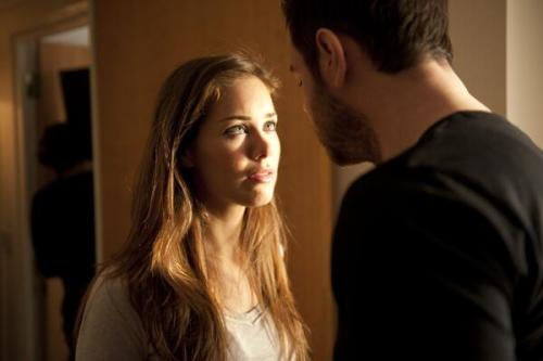 Beautiful @Roxanne_Mckee shares a tender moment with @MrDDyer in new urban vigilante movie @VendettaFilm coming soon
