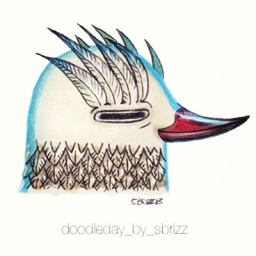 Birdhead #myart #bird #drawing #color #pencil #pantone #inkpen #art #instagood #instagram #instamood #instagramers #instagramhub #webstagram #iphonesia #vintique