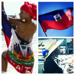 I WILL REP MY COUNTRY IN A HEARTBEAT! Happy Haitian Flag day to all my Zoes and my own Haitian queen who has made many ways out of none for her children. Typical of people! I love it, I rep it, I live it! Ayiti Cheri. Ou konnen! 💋❤💙❤💙💋