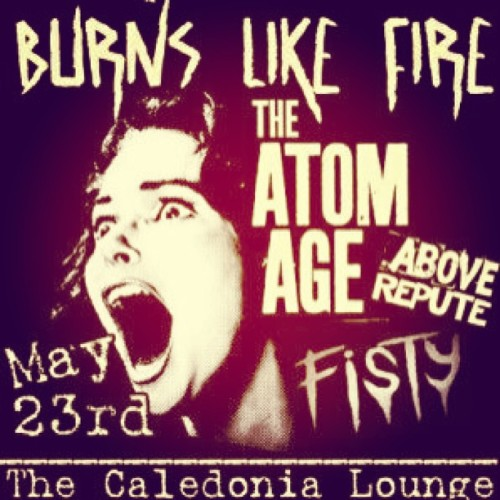 Thursday!! At Calendonia Lounge!!! #burnslikefire #theatomage #aboverepute #fisty #punkrock #calendonialounge #allages (at thunderbox)