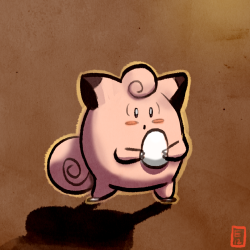 1-3-13: Day 304 a clefairy holding an egg