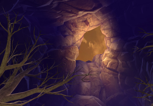 The Meeting Stone cave on Voss, part of the Inquisitor story, had this beautiful hole. :D