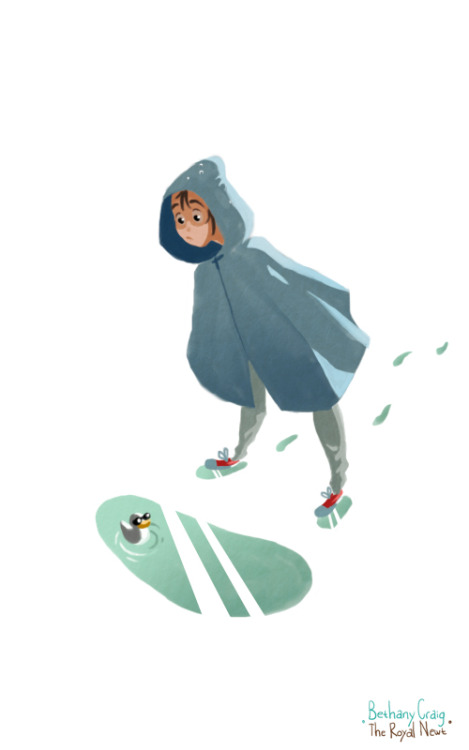 Little Raincoat A quick painting / study in contrast and colors. Fun fact: this is my 100th post