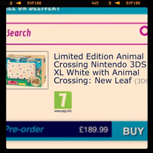 Just pre ordered this 😍is it June yet ? #animalcrossing #newleaf #nintendo #happiness