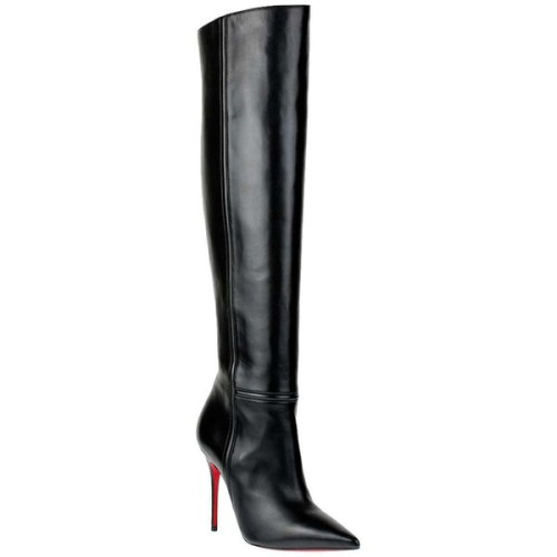 polyvore fashion shoes boots black thigh high boots over the knee high heel boots pointed toe boots black high heel boots zipper boots