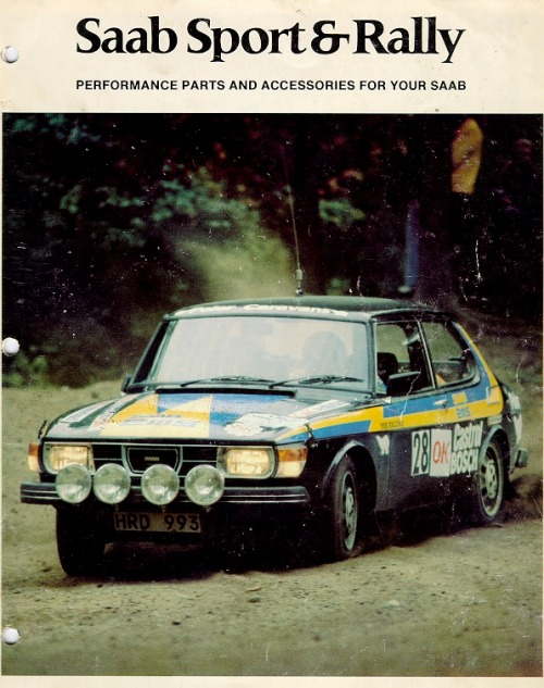 drivenetwork:  Saab Sport & Rally catalog