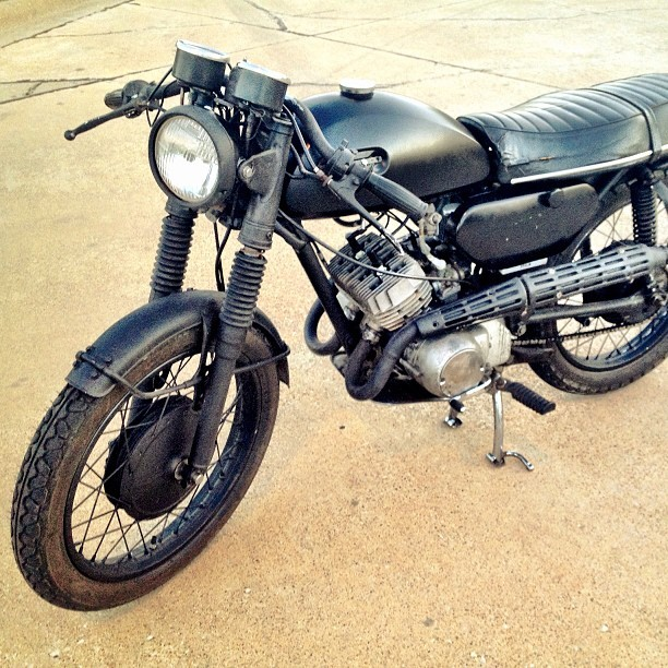 "themotogato:  Saying goodbye to my very first bike today.  Nawww… I'm going to miss you little ""Sleepy"""