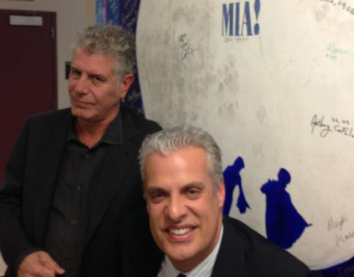 Our friend @Bourdain and @Ericripert backstage Guts and Glory Tour. via @jasonMerder