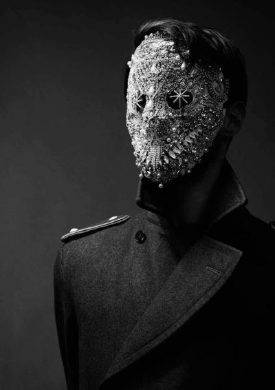 iheartmyart:  Model: Stephen Delattre Jewel mask: Lorand Lajos  Photographer: Thomas Sing