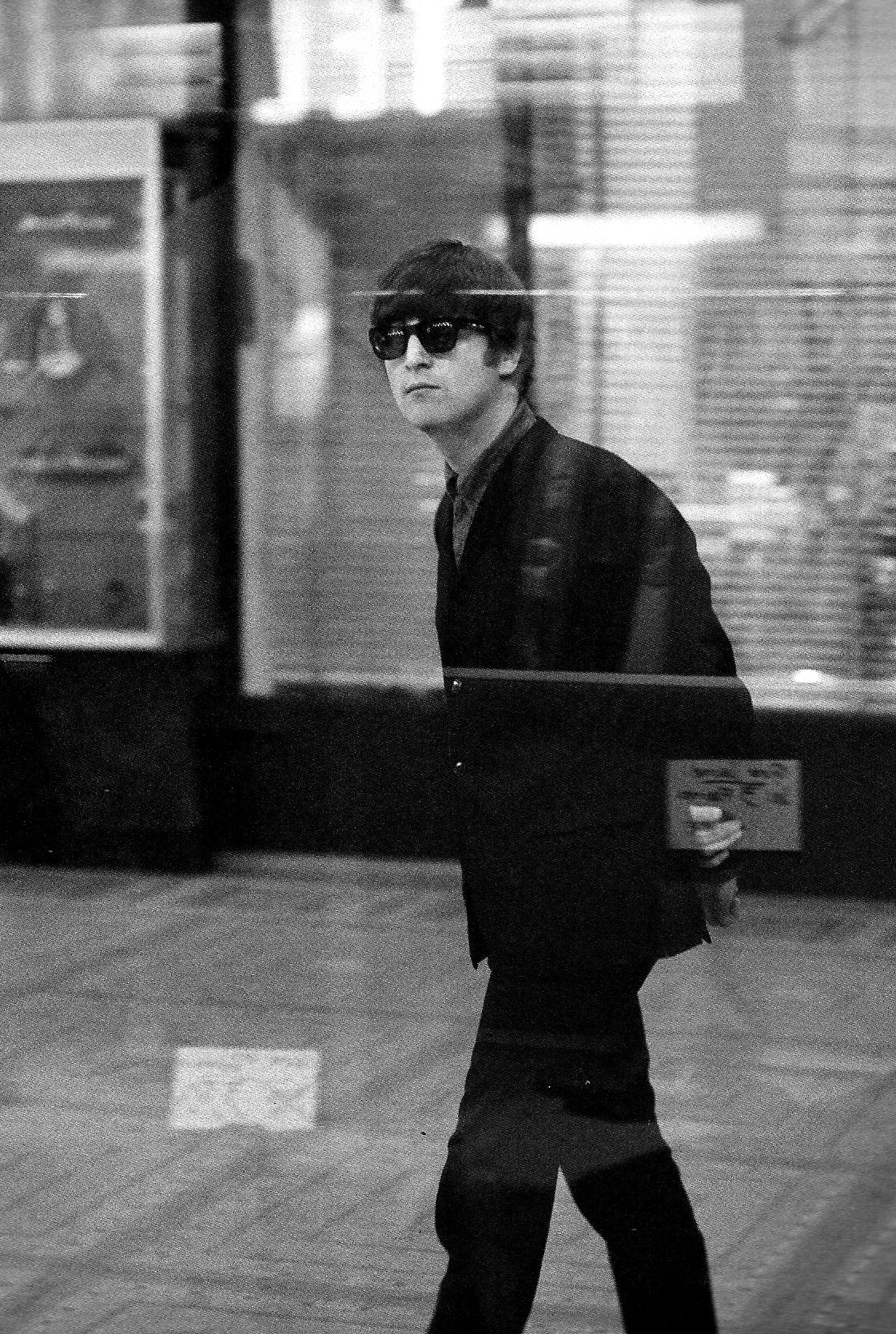 thebeatlesordie:  John Lennon, Paris, 1964 -Photo by George Harrson