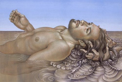 Michael Bergt | Undercurrent | color pencil, gouache on toned paper | 2011