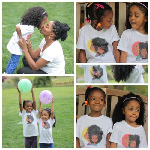 alexandraelle:  @diasoleil and QBaby love their @keturahariel shirts too! Our girls had so much fun playing together today. ❤