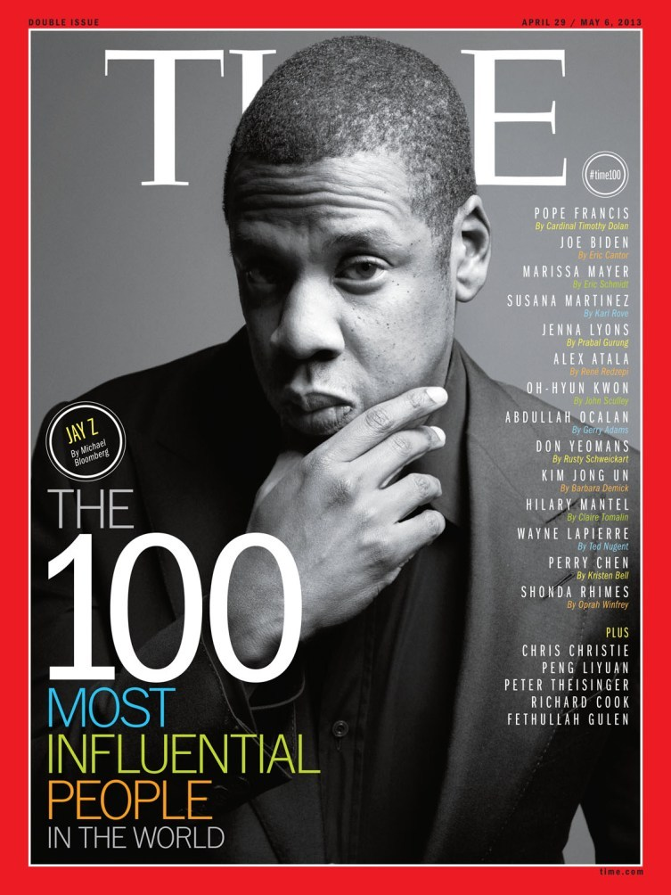 100 Most Influential People Jay Z Time Cover