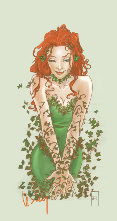 thehappysorceress:  Poison Ivy by Josh Middleton, color by antart