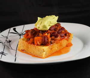 findvegan:  Chili Spiced Polenta, Kidney Bean Goulash..