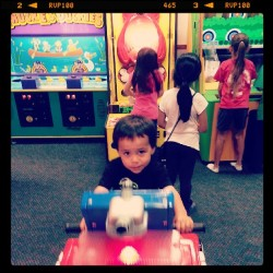 Happy 3rd birthday baby nephew. #gettingbig  (at Chuck E. Cheese's)