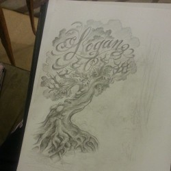 draw on :) #drawon #drawing #oak #tree #tattoo #sketch #logan