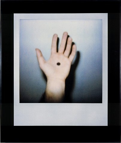 DOUGLAS GORDON  Hand with spot B, 2001  Digital C-type print