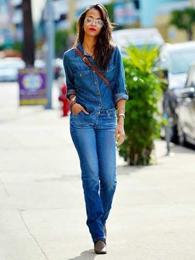 Zoe Saldana out + about in West Hollywood on Tuesday…