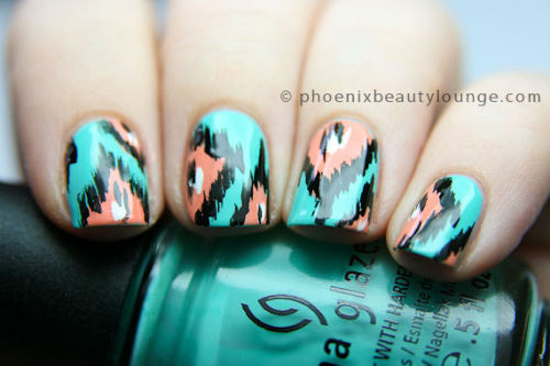 phoenixbeautylounge:  Ikat nails. Find out how to create this design in our tutorial at Phoenix Beauty Lounge!