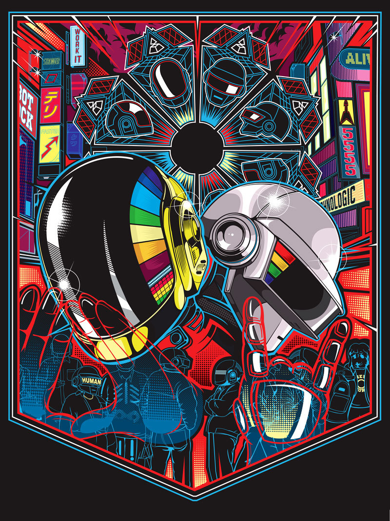Sam Ho's Daft Punk Inspired piece from the Daft Punk Inspired Art Show by Gauntlet Gallery