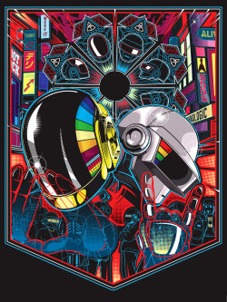 suicideblonde:  Sam Ho's Daft Punk Inspired piece from the Daft Punk Inspired Art Show by Gauntlet Gallery