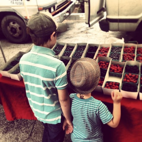 Mother's Day morning.  (at Santa Monica Farmers Market - Sunday)