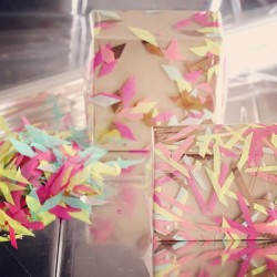 confettisystem:  Our confetti gift wrapping idea on Opening Ceremony's blog! #confettisystem #openingceremony