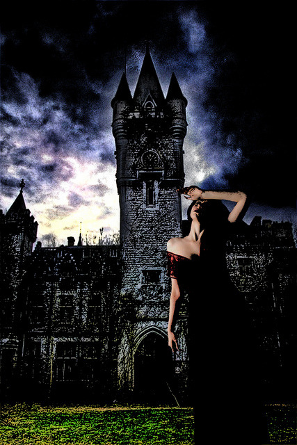 """Ghost Of Galloway Hall"" on Flickr.Female model provided by Marcus J. Ranum."