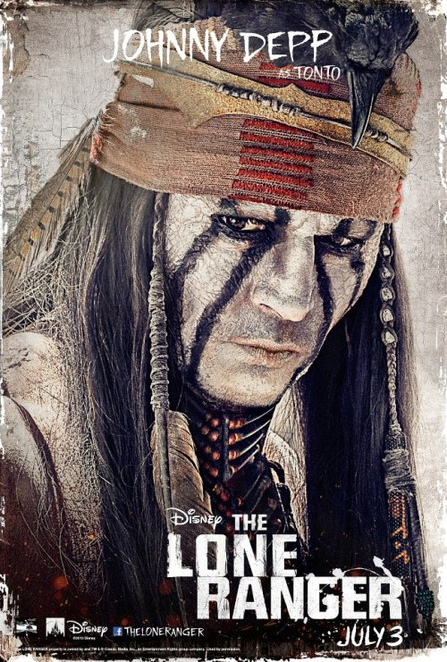 The Lone Ranger | Johnny Depp character poster