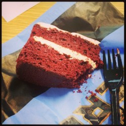 Red velvet cake. Where have you been all my life <3