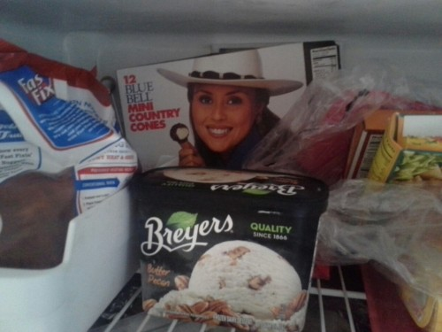 deucalio:  Every time I open the freezer I fucking see this woman smiling at me with her small ass fucking ice cream cone