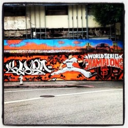 Who said #graffiti is always bad! #sfgiants #lincecum #ws #2010 #2012
