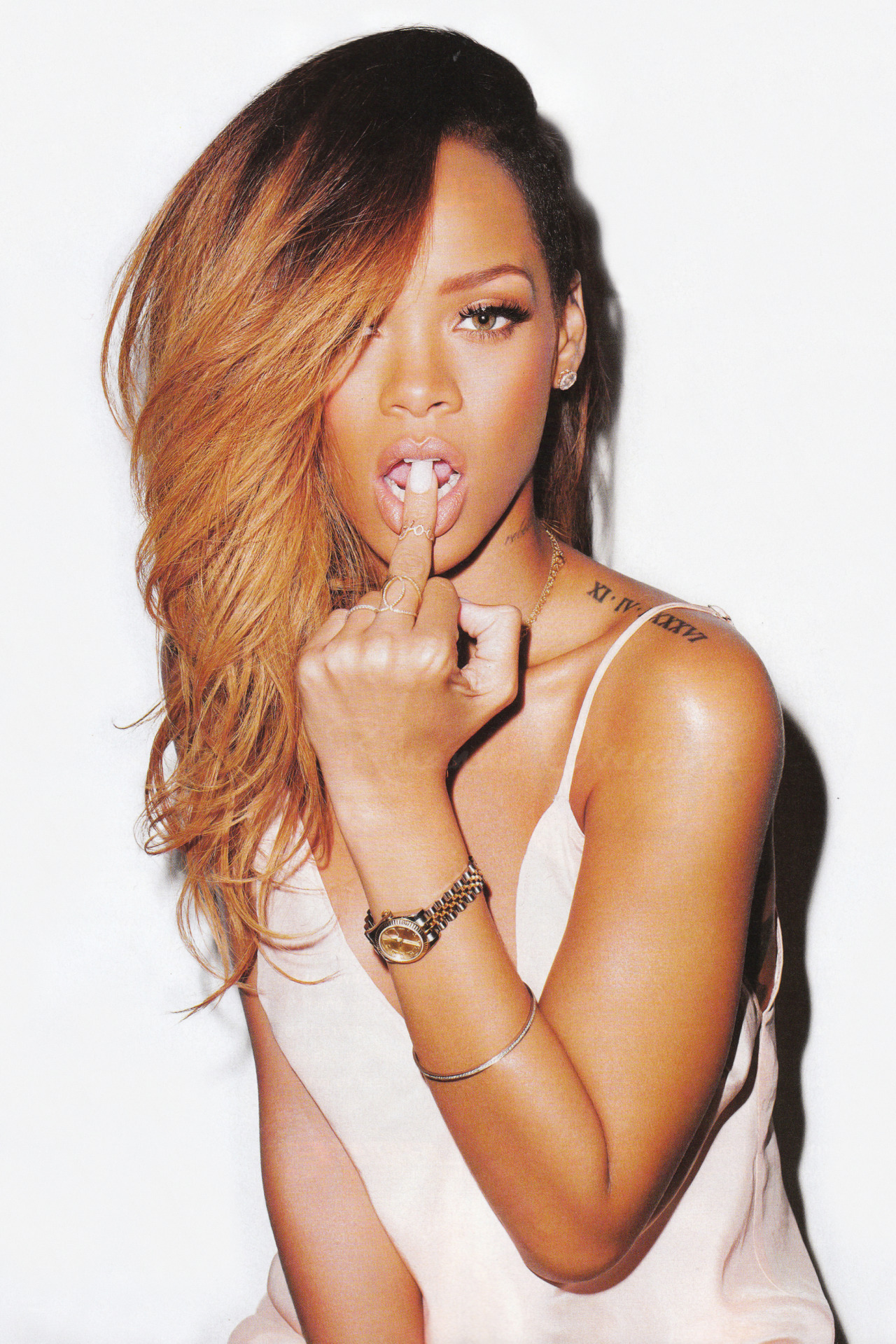 writteninlace:   Rihanna by Terry Richardson for Rolling Stone  bby