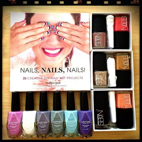 nailinghollywood:  Soo excited about all my new nail mail!! @Azature Light Diamond collection, @NARSissist Pierre Hardy colors, and @Mpnails Nails, Nails, Nails! By Madeline Poole! Going to have so much fun with all of these. Thanks @azature, @narsissist, and @mpnails ! ❤😻💅