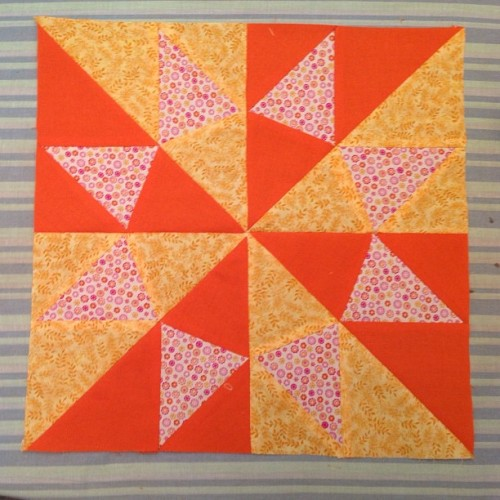 "12"" quilt block! My first foundation paper piecing!!!"