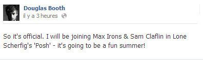 samclaflin-fans:  According to Douglas Booth on Facebook, they will film Posh this summer!