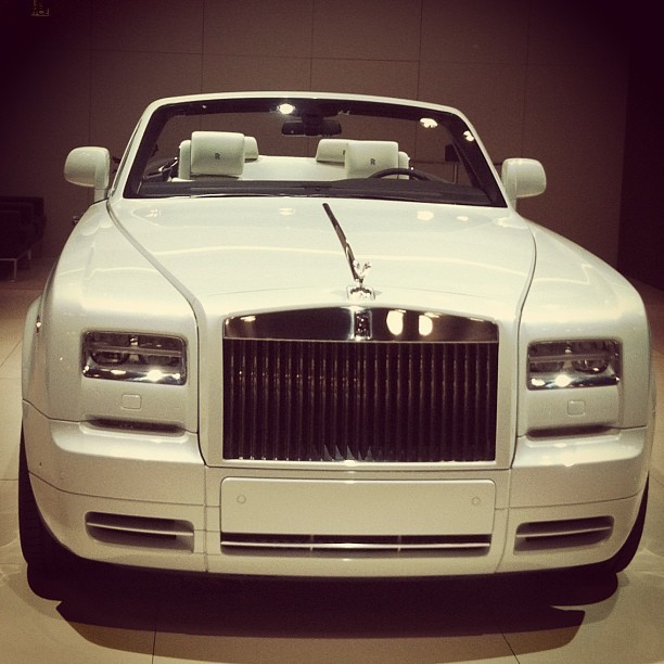 My new ride #phantom #convertible #car #whip #whippedcream