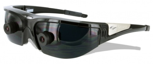 "neurosciencestuff:   AR Goggles Restore Depth Perception To People Blind in One Eye People who've lost sight in one eye can still see with the other, but they lack binocular depth perception. Some of them could benefit from a pair of augmented reality glasses being built at the University of Yamanashi in Japan, that artificially introduces a feeling of depth in a person's healthy eye. The group, led by Xiaoyang Mao, started out with a pair of commercially available 3D glasses, the daintily named Wrap 920AR, manufactured by Vuzix Corporation. (Vuzix is also building another AR headset called the M100 that on first sight looks like quite the competitor to to Google Glass.) The Wrap 920AR looks like a pair of regular tinted glasses, but with small cameras poking out of each lens. The lenses are transparent and the device, Vuzix explains on its website, both captures and projects images, giving the wearer of the device front-row seats to a 2D or 3D AR show transmitted from a computer. The group at Yamanashi have created software that makes use of the twin cameras. When a person puts the glasses on, each camera scopes out the scene that each eye would see. The images are funneled into software on a computer, which combines the perspective of both cameras and creates a ""defocus"" effect. That is, some objects to stay in focus while others stay out of focus, resulting in a feeling of depth. That version of the scene in front of them is projected to the single healthy eye of the wearer. The system isn't quite ready to be taken for spin around town yet. It's bulky still, the creators write, and needs a computer by its side, creating and projecting images in real time. But the creators admit such computing power is likely to be found on mobile devices soon, and when it is, they'll be ready."