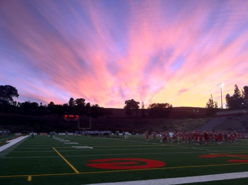 The sky over John Shepard Stadium on Oct. 6 before the Moorpark Pierce game.