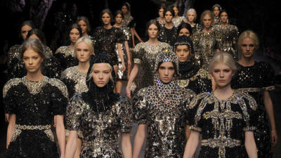 Dolce & Gabbana fall/winter 2014 Milan fashion week!