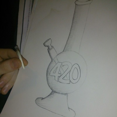 Merry #420, by Cam :) #4/20 #bong #weed #stoner #joint