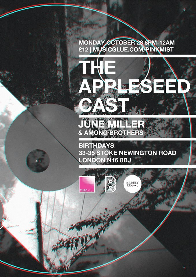 Excited, delighted and honoured to be opening for The Appleseed Cast in October. We've been huge fans of this band for years so this is a biiiiiiiiiiig deal for us! TICKETS:http://bit.ly/12oKHlp