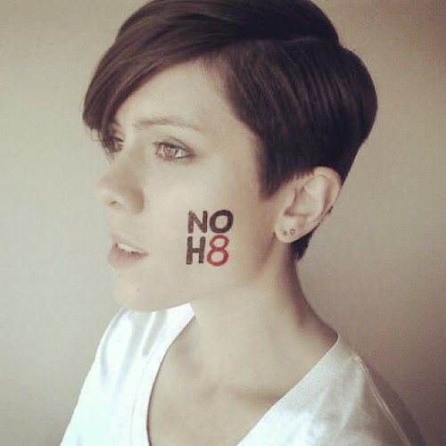 teganandsara:  Teaser shot from our @noh8 shoot today!