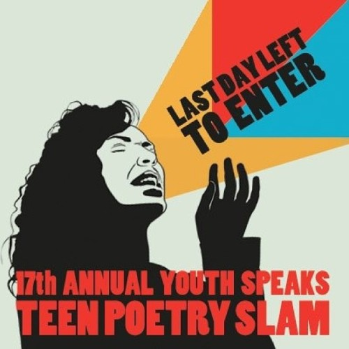 Teen Poetry Slam 2013 kicks off TODAY with preliminary bouts in San Francisco (5+7PM) at 826 Valencia and in Berkeley (7PM) at Subterranean Arthouse. Visit Youth Speaks for a full schedule and come out to support the Bay Area's brave and brilliant young poets!  Follow us on Instagram :: http://instagram.com/youthspeaksFollow us on Twitter :: http://www.twitter.com/youthspeaks