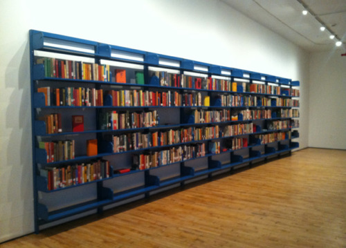 "hyperallergic:  The Lonely Books That No One Borrows  Meriç Algün Ringborg, ""The Library of Unborrowed Books"" (2013) What is the fate of a library book that never gets checked out?  View Post"