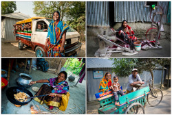 Ultra-poor rural women in Bangladesh who have benefitted from WFP's Vulnerable Group Development programme - this includes training in income-generating activities, enrolment in personal savings plans, micro-credit, and receipt of micronutrient fortified food. Photos: W`FP/Rein Skullerud