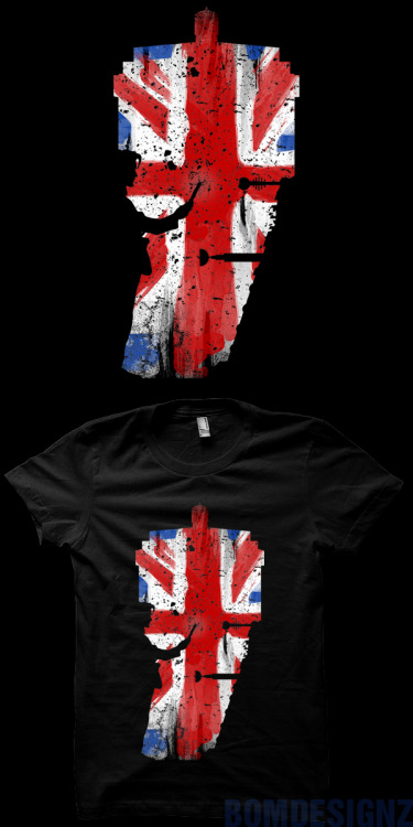 Doctor VS Dalek in one amazing Doctor Who t-shirt design, featuring UK flag with vintage feel in it. By BomDesignz available at REDBUBBLE.COM. Also as sticker, iPhone case, iPad case and framed art!