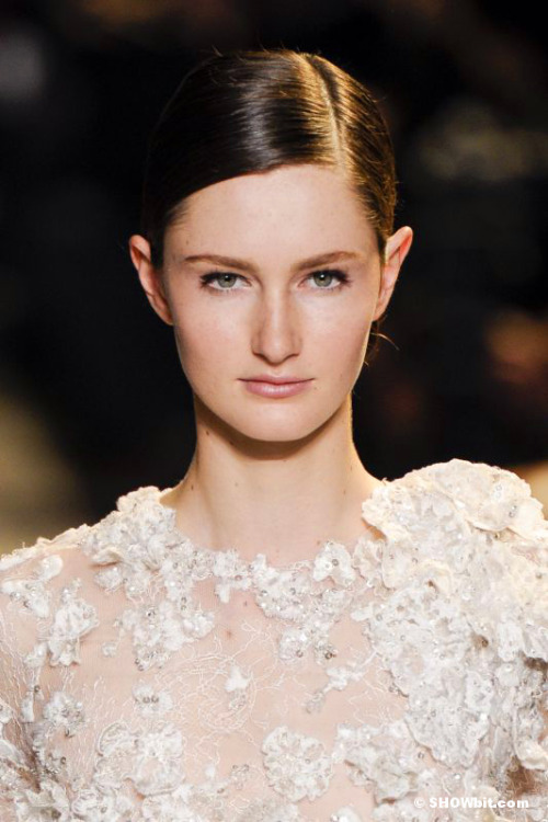Beauty of Mackenzie Drazan at Elie Saab Haute Couture SS/2013 Show.