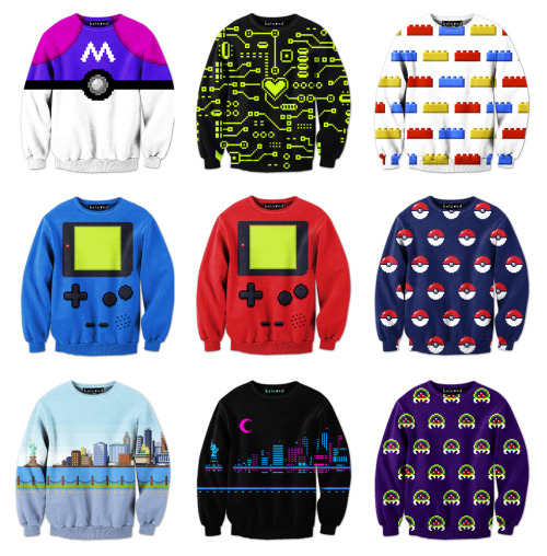 it8bit:  Another batch of Pixel Sweaters  Available for $59(USD) each @Beloved Shirts. Created and submitted by Drew Wise